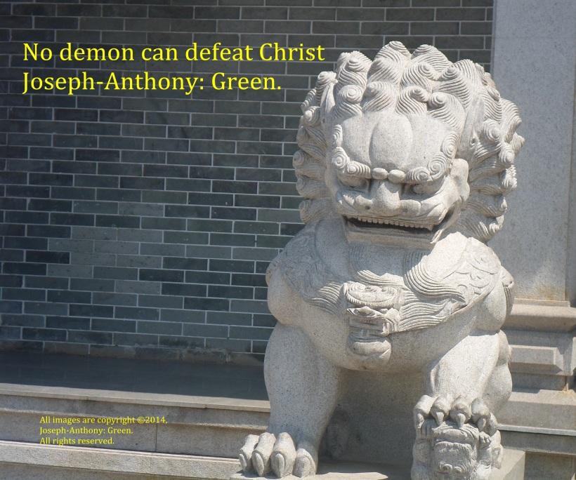 christ defeats demons