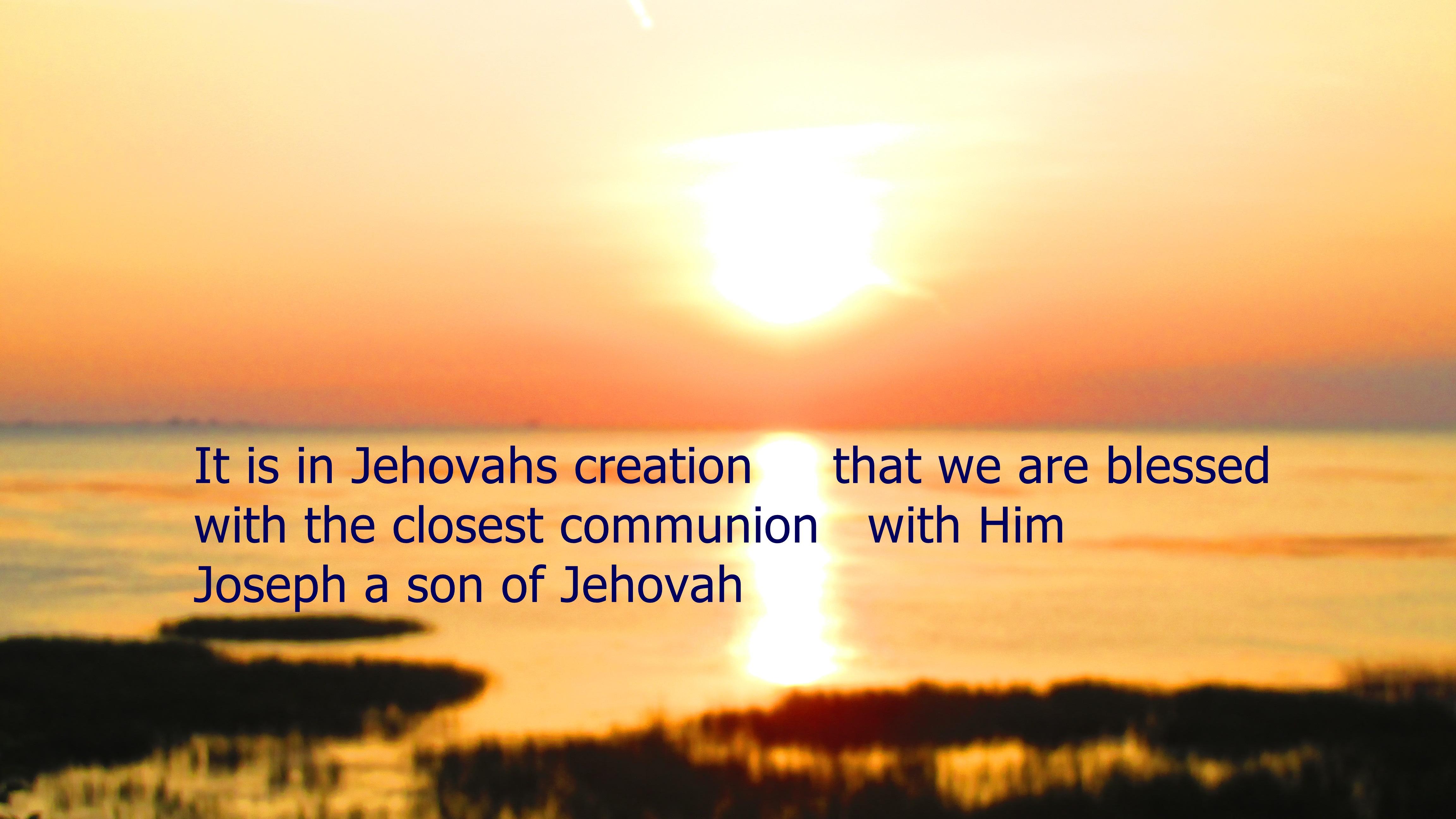 JEHOVAHS COMMUNION